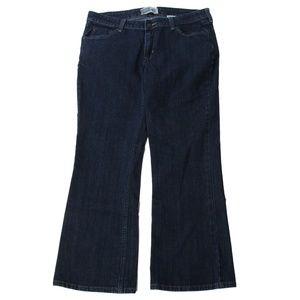 Levis Signature Jeans Boot Cut 14 Short 34x28 Dark